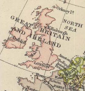 Old Map of the United Kingdom